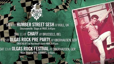 EUROPEAN DATE ADDED // HUMBER STREET SESH FESTIVAL // SQ FESTIVAL