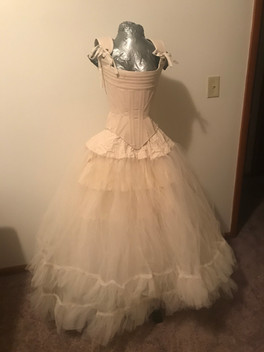 Corset and petticoat