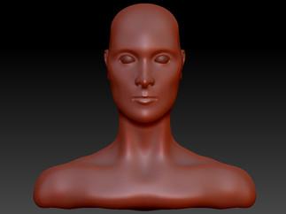 Freeform Human Head