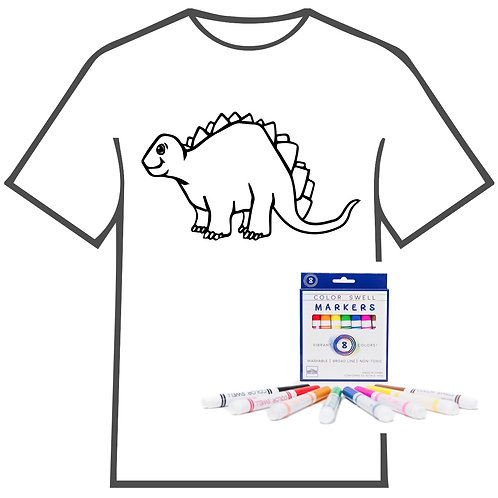 Dinosaur Coloring Book T-shirt