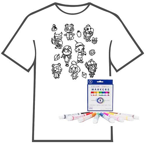 Animal Crossing Coloring Book T-shirt