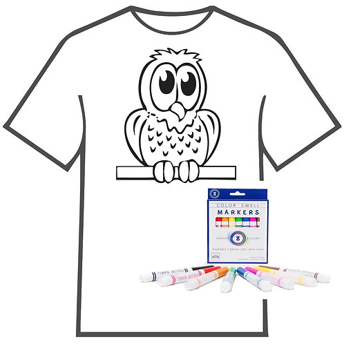 Owl Coloring Book T-shirt