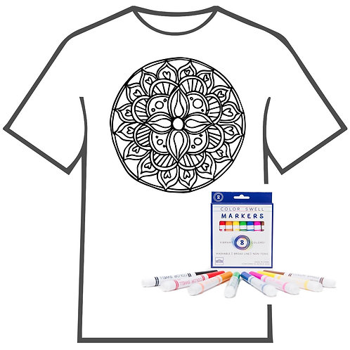 Flower Medallion Coloring Book T-shirt