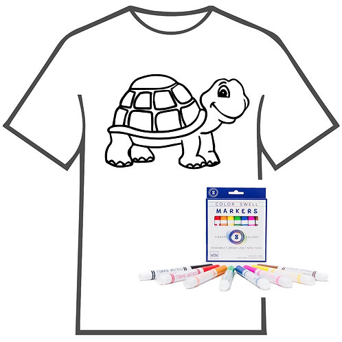 Turtle Coloring Book T-shirt