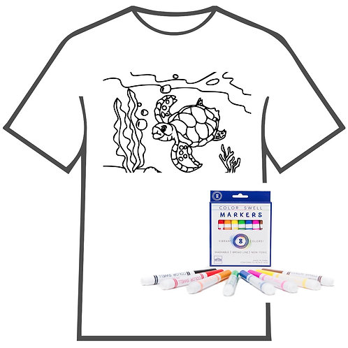 Sea Turtle Coloring Book T-shirt