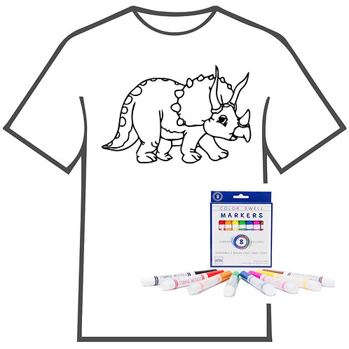 Stegosaurus Coloring Book T-shirt