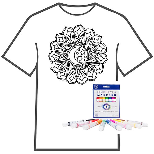 Moon Medallion Coloring Book T-shirt