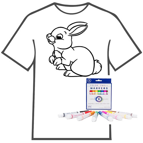 Bunny Coloring Book T-shirt