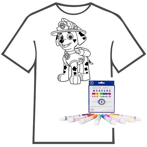 Paw Patrol Coloring Book T-shirt