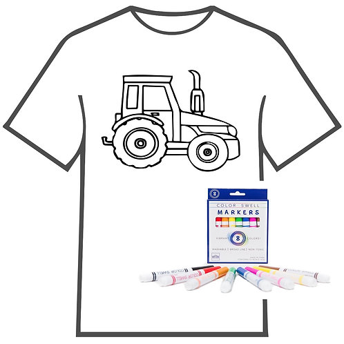 Tractor Coloring Book T-shirt