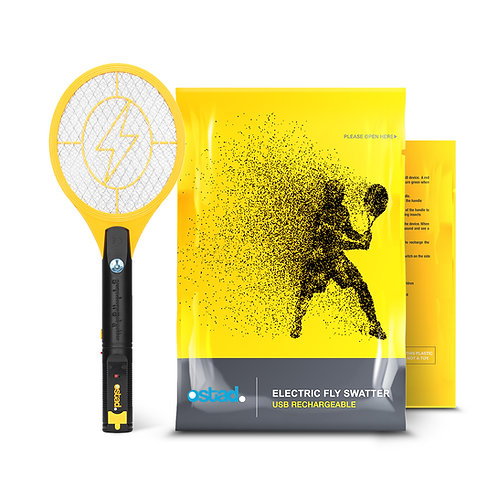 Ostad 1 Fly Swatter, USB Powered, 3800 Volts
