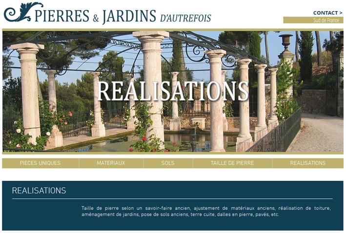 Pierres et Jardins - Réalisations