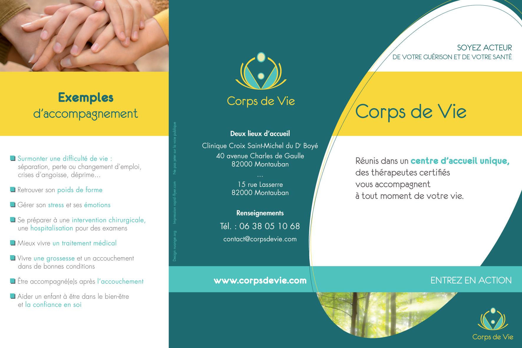 Plaquette CORPS DE VIE - Recto