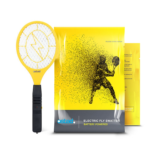 Ostad 2 Fly Swatter, Battery Powered, 3000 Volts
