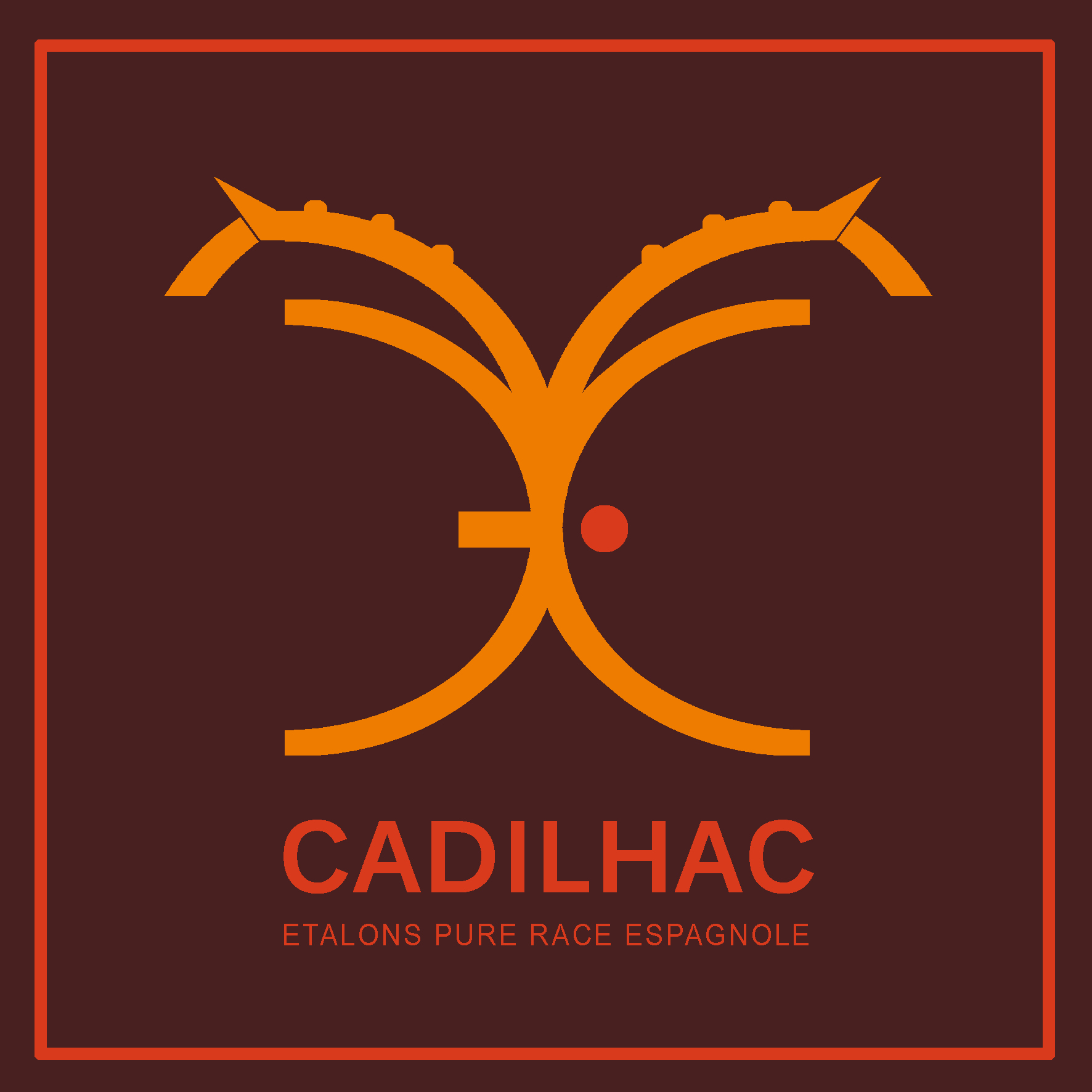 Logo Etalons Cadilhac Brun Cadre