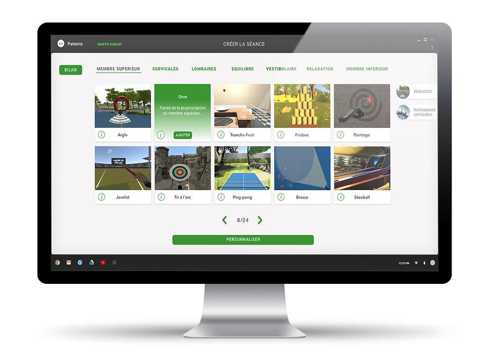 Visuel de la nouvelle interface KineQuantum 2.0