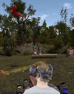 Exercice rééducation réalité virtuelle rachis cervical KineQuantum