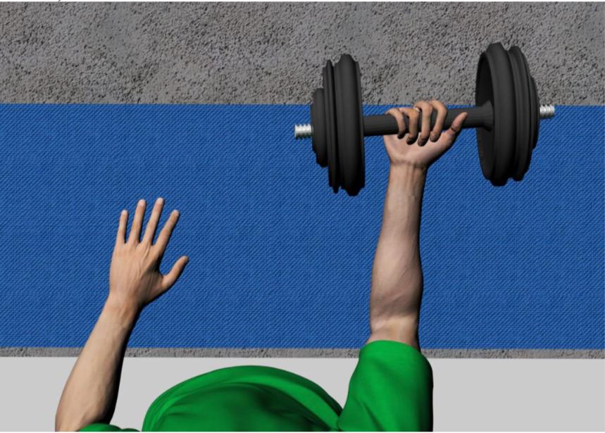 modélisation de la flexion du biceps en réalité virtuelle