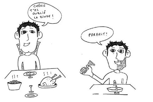 Illustration humoritique pour expliquer l'héminégligence