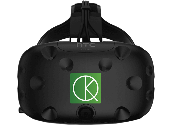 KineQuantum virtual reality mask for rehabilitation