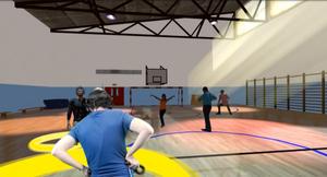 Exercice de renforcement et de proprioception lombaire en réalité virtuelle KineQuantum