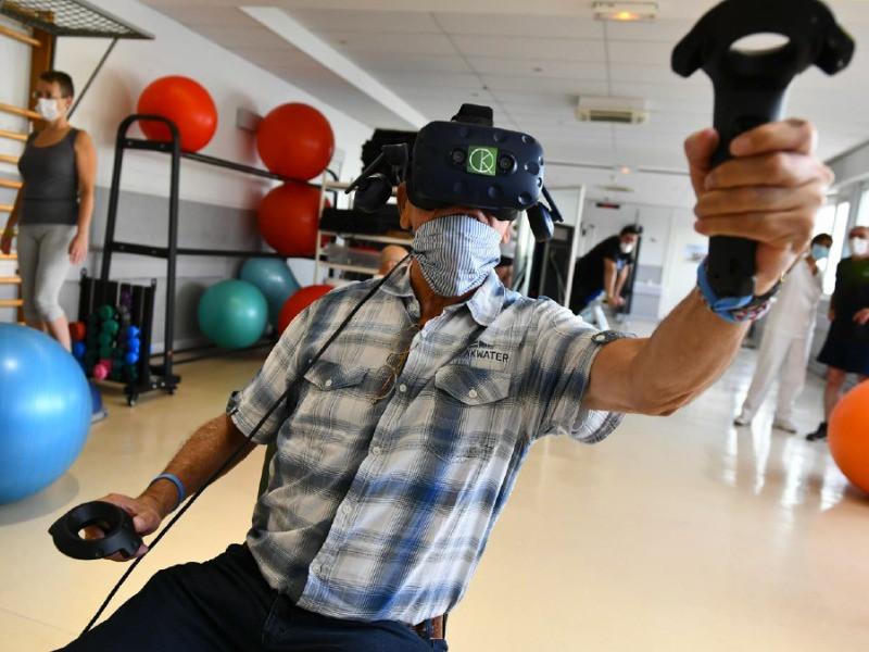 Patient reeducation covid realite virtuelle KineQuantum