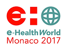 Logo e-health word Monaco