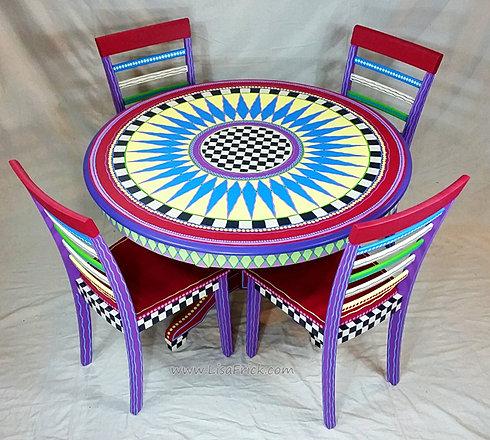 hand painted furniturewwwlisafrickcom  Custom Hand Painted Furniture