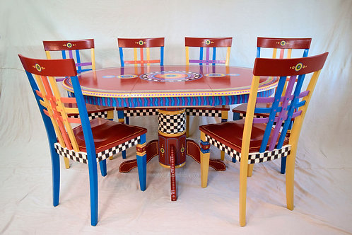 Hand Painted Table and Chairs, Preorder, Hand Painted Furniture