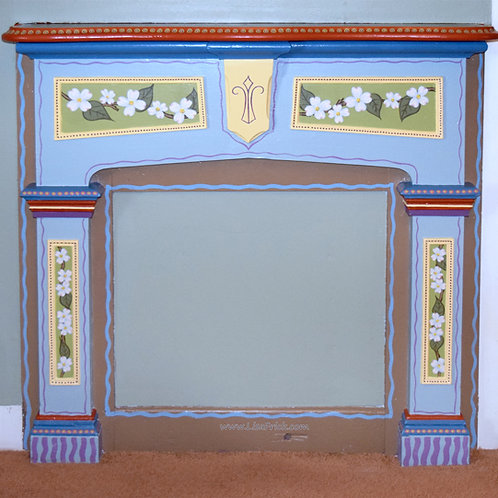 Hand Painted Fireplace Mantle