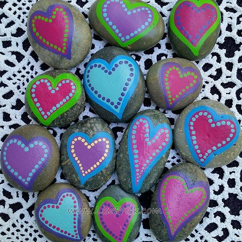 Heart Rocks- Set of Five