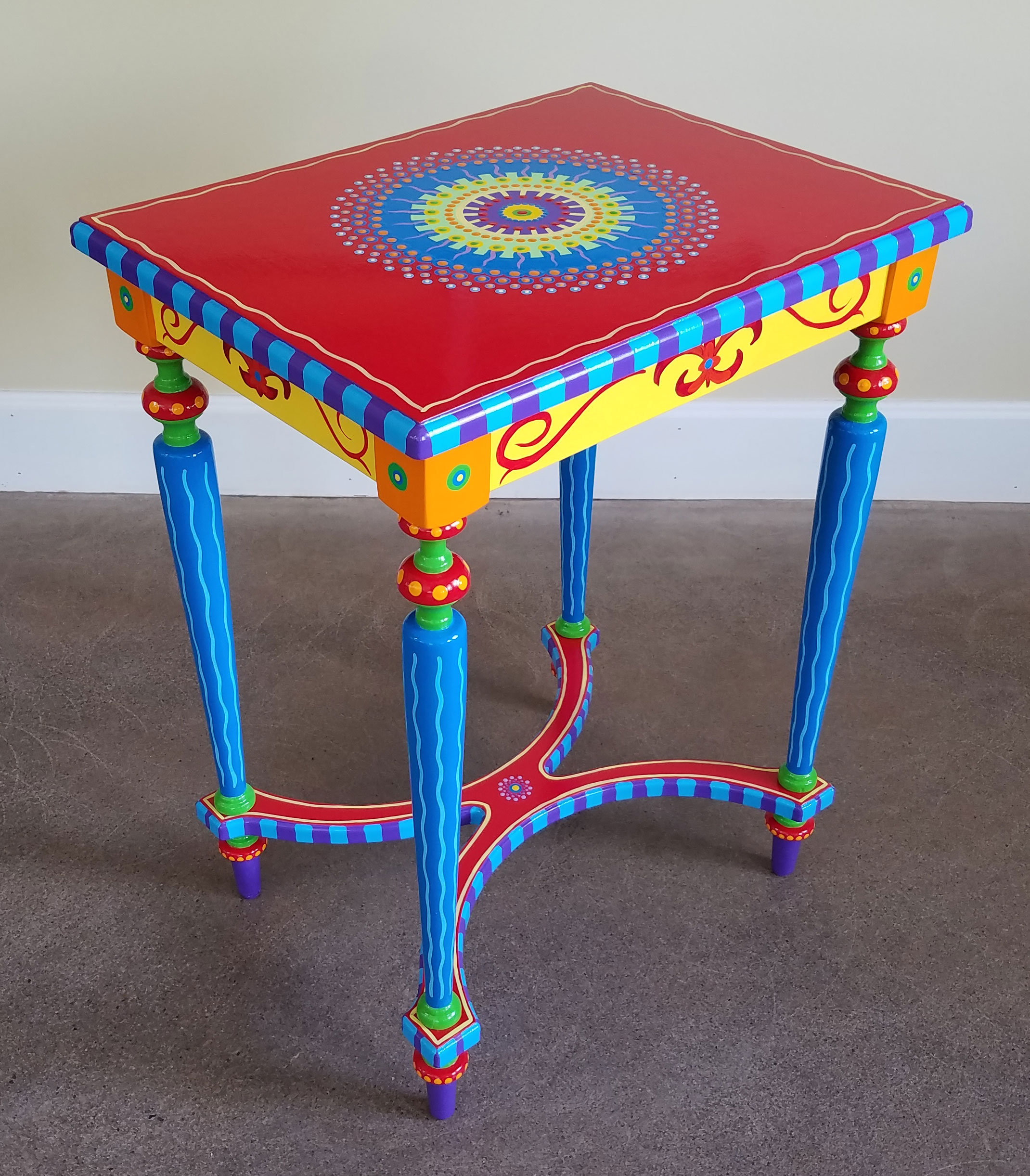 Hand Painted Furniture Side Table Preorder Lisa Frick Artist