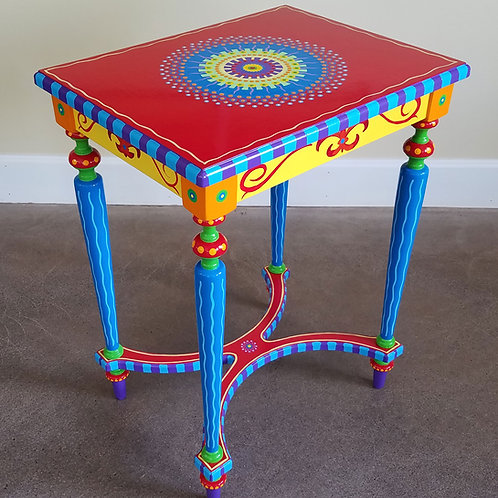 Hand Painted Furniture, Side Table, Preorder