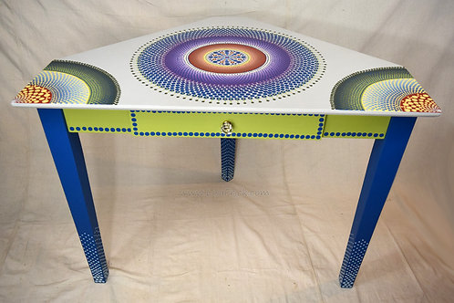 Hand Painted Mandala Corner Table