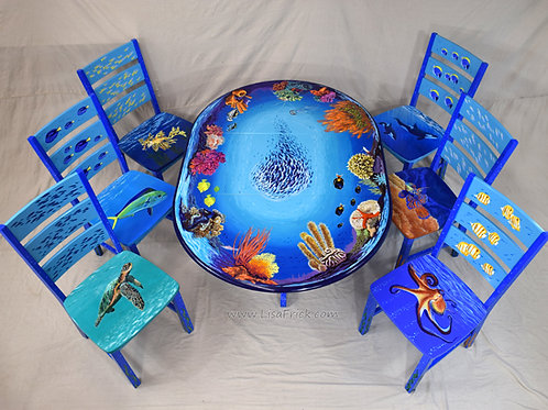 """Ocean Life"" Dining Table and Chairs"