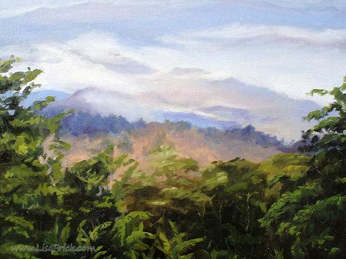 Honduran Landscape, Oil on panel
