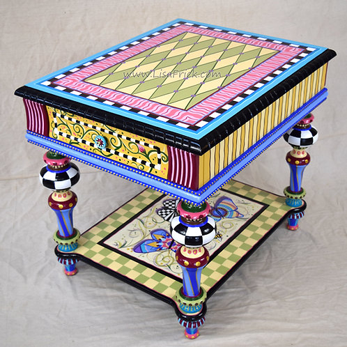 Butterfly Side Table, Preorder, Hand Painted Furniture