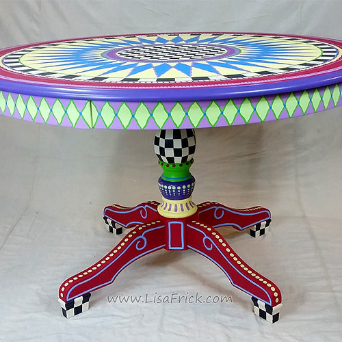 Hand Painted Table And Chairs, Alice In Wonderland