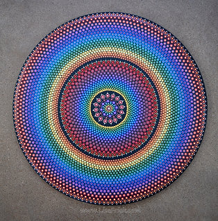 "30"" Dot Mandala Painting"