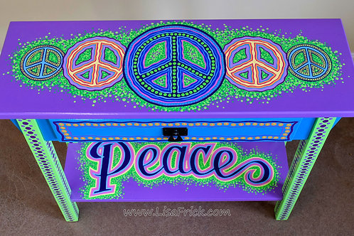 """Peace"" Side Table"