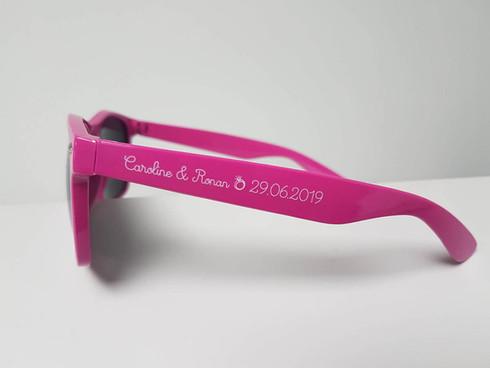 Jolies lunettes Classico Rose Fushia pour un mariage