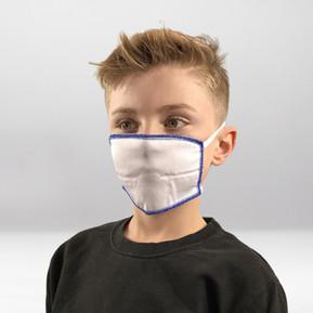 Maske Weiß-Blau