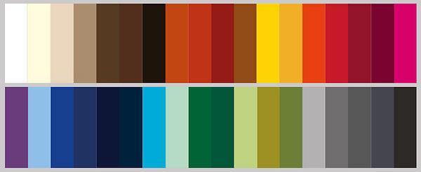 Farbauswahl Masken Stickerei Klam