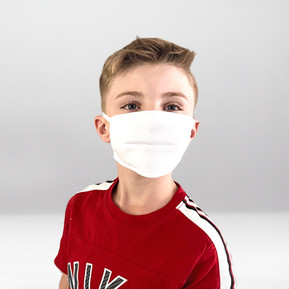 Weiße Kindermaske Stickerei Klam