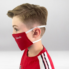 Rote Maske Seitenprofil