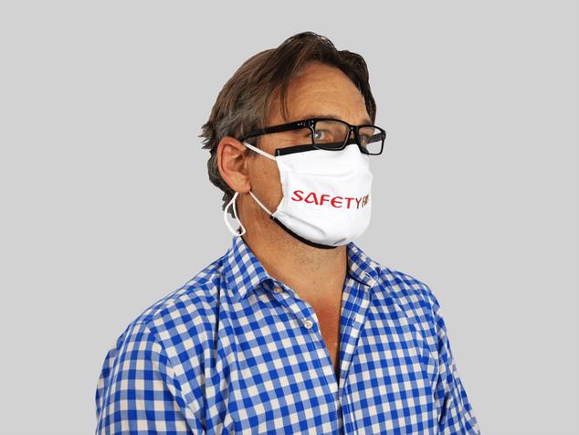 Premium Maske mit Nasenbügel und Schrägband