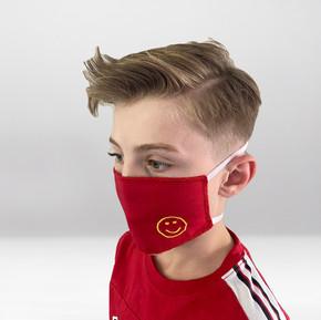 Rote Maske Smiley Profil
