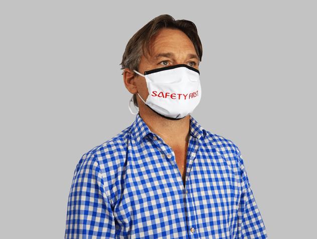 Premium Maske mit Schrägband ohne Nasenbügel