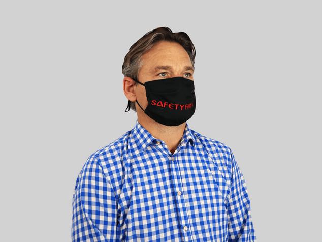 Maske ohne Nasenbügel schwarz