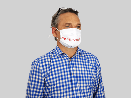 Maske ohne Nasenbügel Stickerei Klam